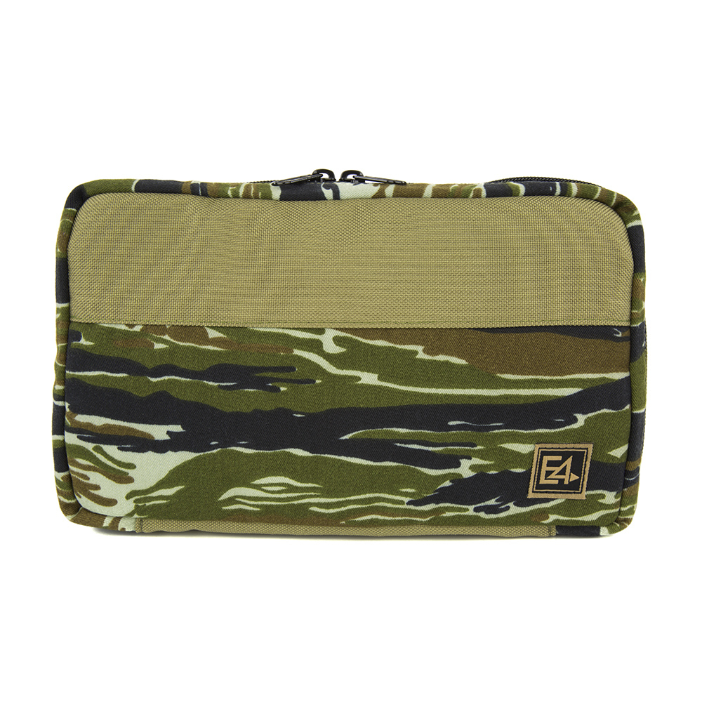E4 By EmdomUSA Bowen Artist Pencil Case - Khaki / Woodland Tigerstripe Camo
